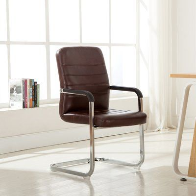"""Porthos Home Christine 19"""" Conference Chair Color: Brown"""