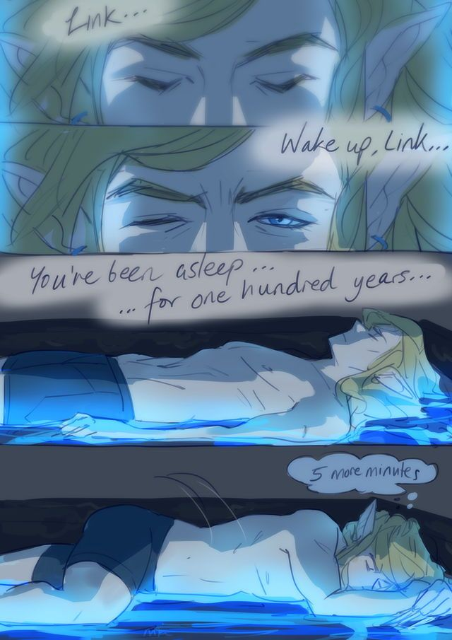 YEAH ZELDA HE NO WANT 2 SAVE DA WORLD YET LET HIM SLEEP