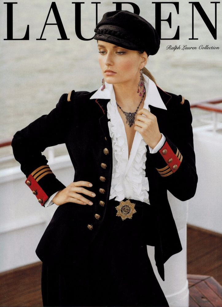 Details About 2013 Ralph Lauren Valentina Zelyaeva Magazine Print Ad 4 Pg Military Fashion Fashion Ralph Lauren Collection