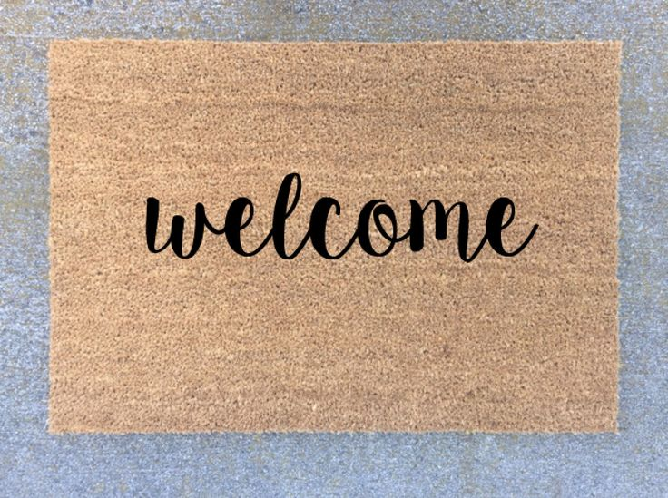 Custom Door Mat, Personalized Welcome Mat, Welcome Mat, Natural Coco Fiber, Coir Mat, Custom Door Mat, Welcome Mat by HBEngraved on Etsy https://www.etsy.com/listing/261687050/custom-door-mat-personalized-welcome-mat