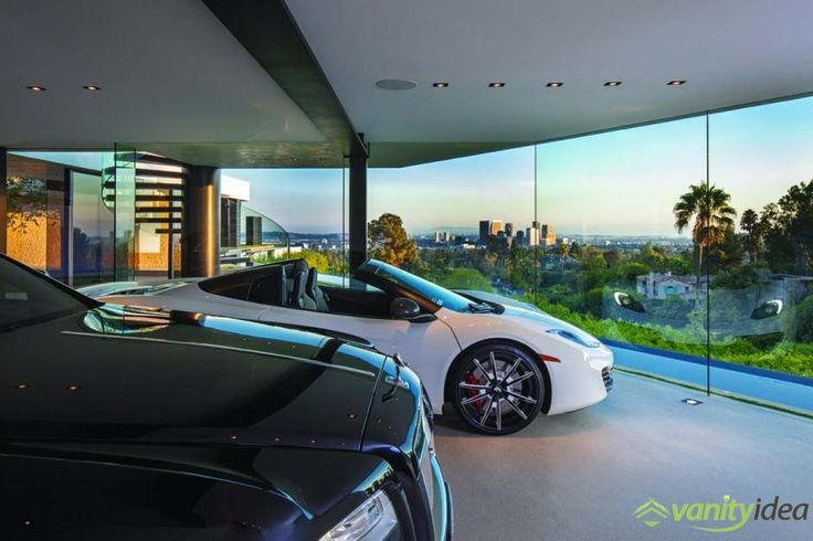 the expansive garage