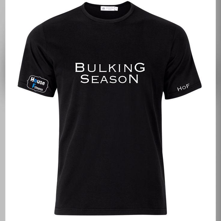 "Our ""BulkinG SeasoN"" gymwear tshirt   Visit www.houseoffitness.ie for more info."