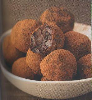 Chocolate truffles: yogurt & cocoa powder, (from the Dukan diet)