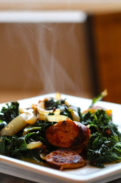 Chicken Sausage & Kale Stir Fry