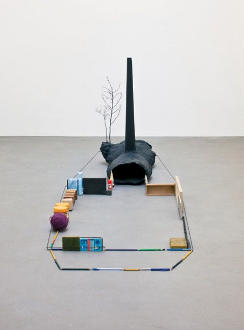 Artist from Netherlands Mark Manders. Small Isolated Room, 2004His Gallery is ZenoX in Antwerpen.Contemporary-Art-Blog