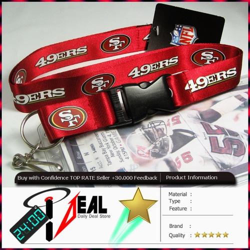 NFL SAN FRANCISCO 49'ERS Lanyard keychain + Ticket ID Holder Red