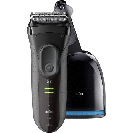 Braun Series 3 ($10 Rebate Available) 3050cc Electric Shaver with Clean & Charge Station, Gray