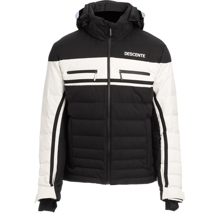 Descente Men Editor Jacket Black Super White Ski Jackets