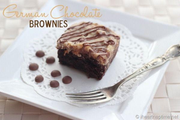 ... | German Chocolate Brownies, German Chocolate and Chocolate Brownies