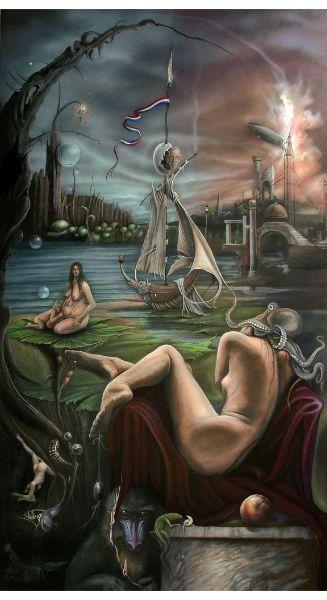 Jo Joosten, surrealisme schilderijen, surrealistische kunst, fantastische kunst