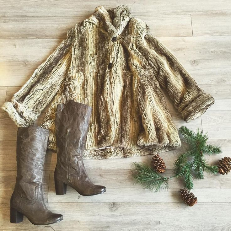 Real fur not your thing? We've got plenty of faux fur coats to keep you warm this season! ✌️❄️ Parkhurst S faux fur coat $75 Frye grey/brown boots 11 $199 #yyc #kensington #peacockboutique #kensingtonyyc #consignment #ootd #fauxfur #ootd #frye #boots #winter #fashion #style #yycfashion #shoplocal #newitems #parkhurst #brandname
