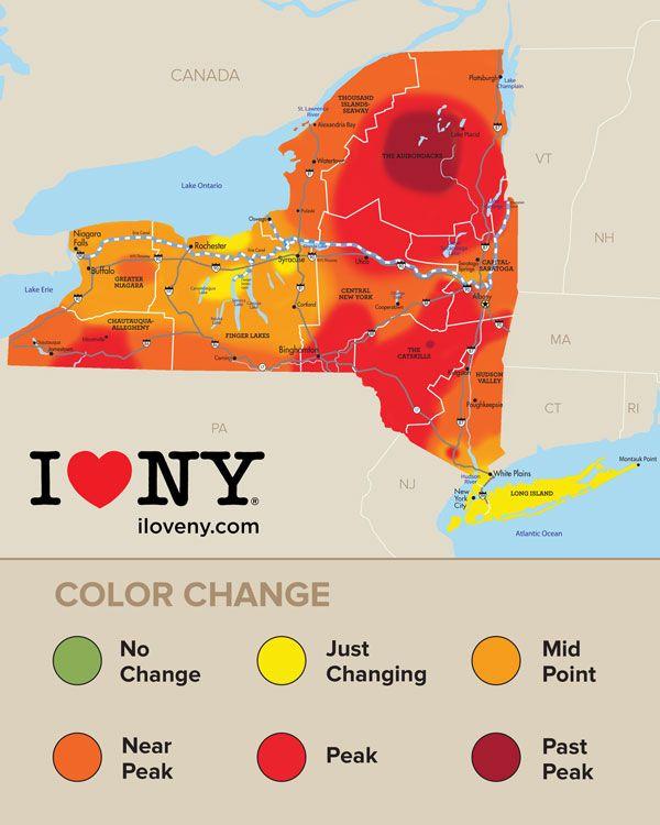 Fall Foliage Map Week 5 10-12-16 #NYLovesFall