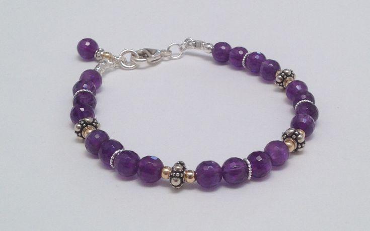 Ultra Violet Amethyst Bracelet, February Birthstone Bracelet  #jewelry #bracelet #purple #etsy #gemstone #women #amethyst #chakra #Valentine #giftforher #giftidea #giftguide #fashiongram #fashionblogger #wedding #bridal #makersmovement #handmade #handcrafted