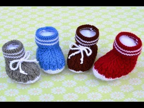 How to Knit Mock Cables Boot Style Baby Booties Part 3