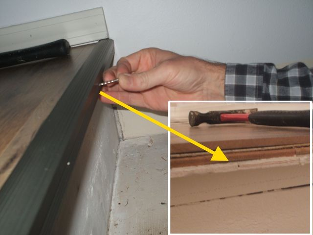 Install Or Replace A Stair Nosing Strip: Install Stair Nosing Strip: Check  Nail Contact