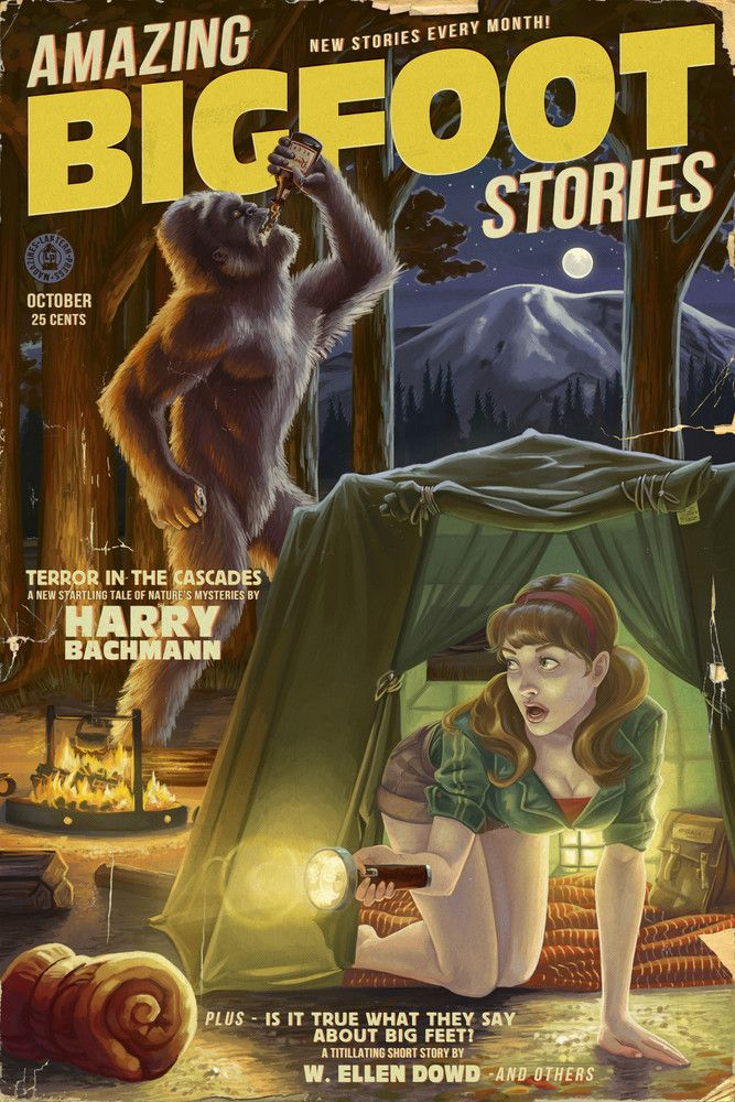 Print (Amazing Bigfoot Stories - Lantern Press Artwork)