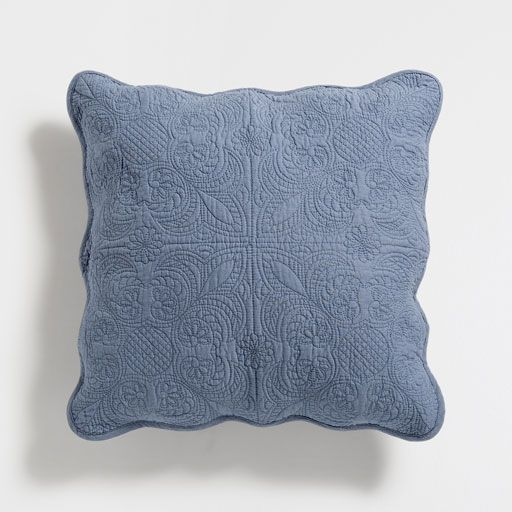 LAVENDER SCALLOPED EDGE COTTON CUSHION COVER