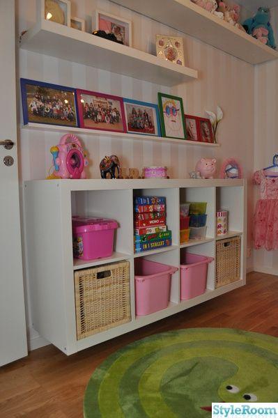 barnrum,flickrum,vitt,rosa,färgglatt,expedit