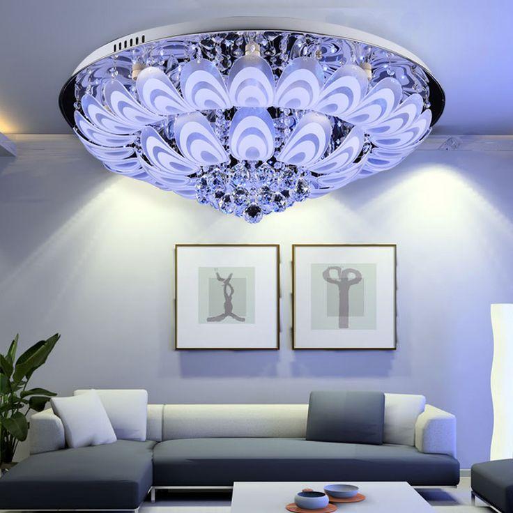 Round Queling σύγχρονο μινιμαλιστικό φωτιστικό σαλόνι κρύσταλλο λάμπα οδήγησε ανώτατο όριο ζεστή ατμόσφαιρα Υπνοδωμάτιο Φωτισμός