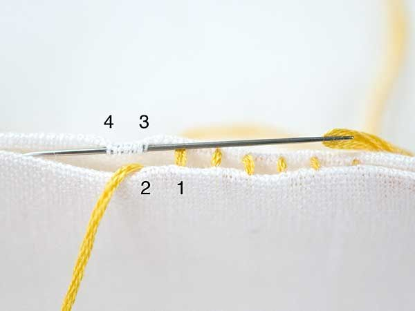 Embroidery Stitches-guide | Ladder Stitch 2a. | molliemakes.com