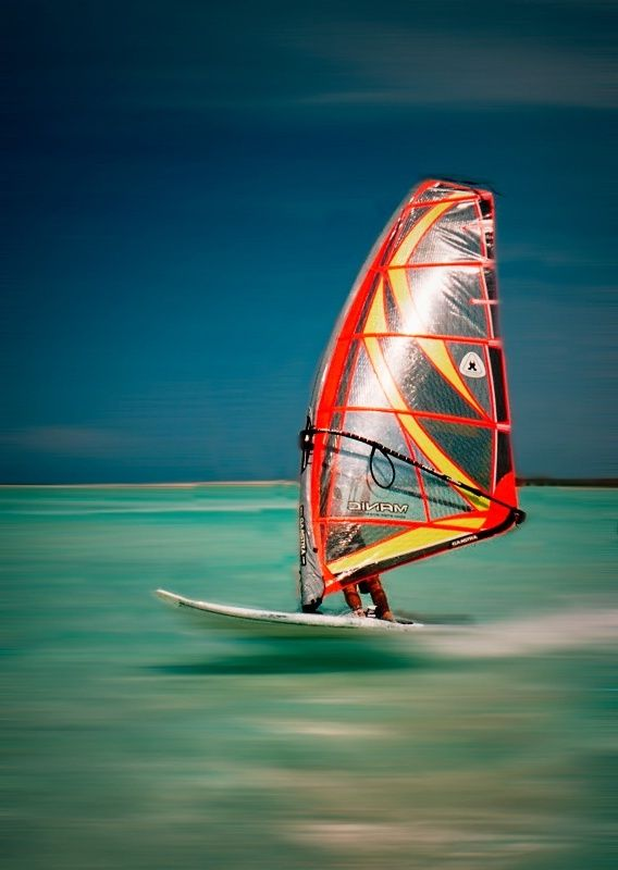 Windsurfing is the real touch of adrenaline.