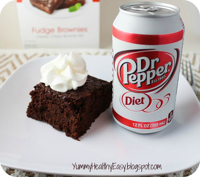 Dr. Pepper, not just for Sailor Jerry's- who knew! Yummy. Healthy. Easy.: {Low Fat} Diet Dr. Pepper Brownies!!!