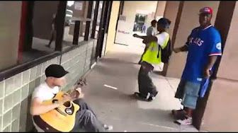Street musician amazing impromptu jam session with two strangers - YouTube