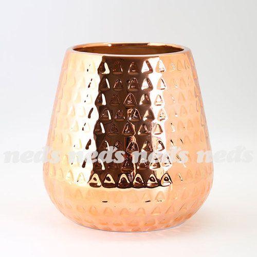 Copper Coloured Vase - Pot Design