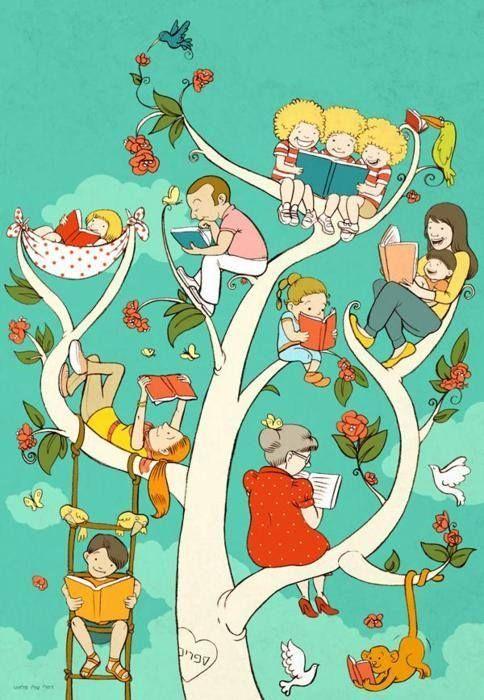 Reader family / Familia lectora (autor desconocido)