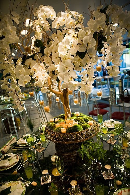 Forest-themed centerpiece