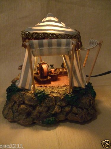 "Lighted Nativity Kings Tent for 2 5"" Fontanini Figures RARE Retired 1996 