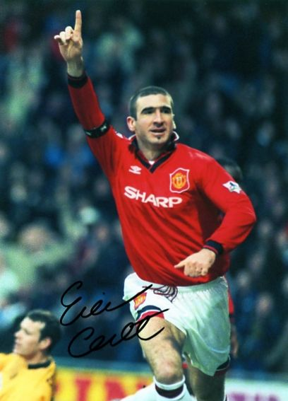 "Eric Cantona. ""King Eric"" played 143 games for Man.Utd. and scored 64 goals. He also help United win 4 Premier League Titles in 5 years and 2 League and F.A. Cup Doubles."