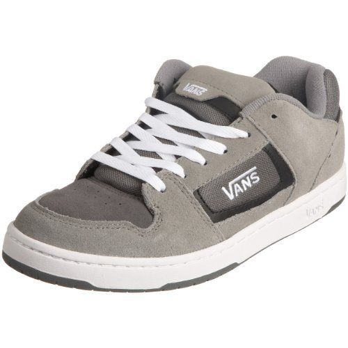 Vans Men's Docket Skate Suede Leather Logo Shoes 11 M US Charcoal/White: Embroidered Vans Logo On Quarter Panel. Classic Vans Cup Sole…