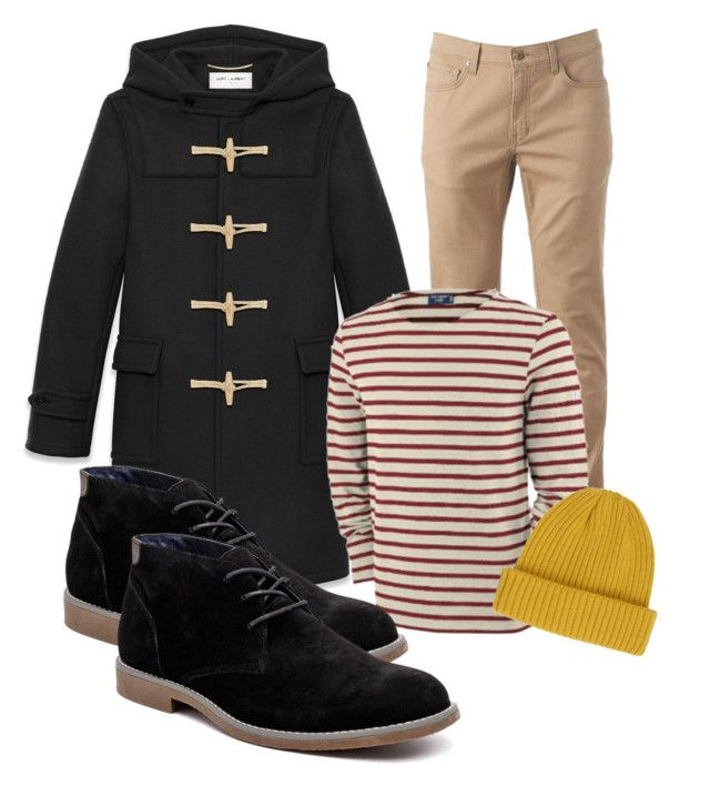 """""""winter6"""" by adela-simkova on Polyvore featuring Yves Saint Laurent, Urban Pipeline, St James, Hush Puppies, River Island, men's fashion and menswear"""