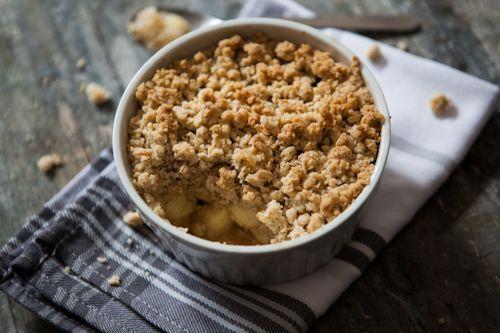 Das tolle an Foodblogs: Es ist für jeden was dabei. Vor einigen Monaten habe ich bei der lieben Rike von Lykkelig *dieses* Rezept für Applecrumble gesehen..