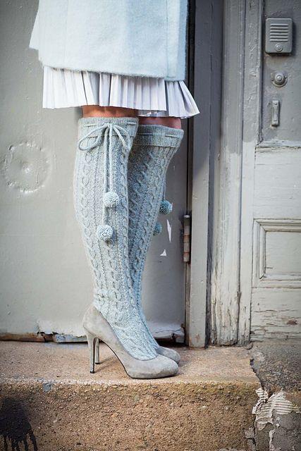 #12 Over Knee Socks pattern by Yoko Hatta (風工房)