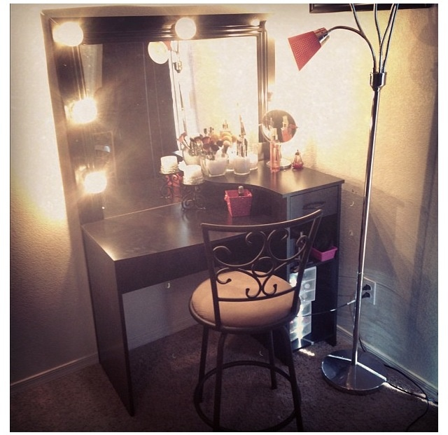 Makeup Desk With Side Storage