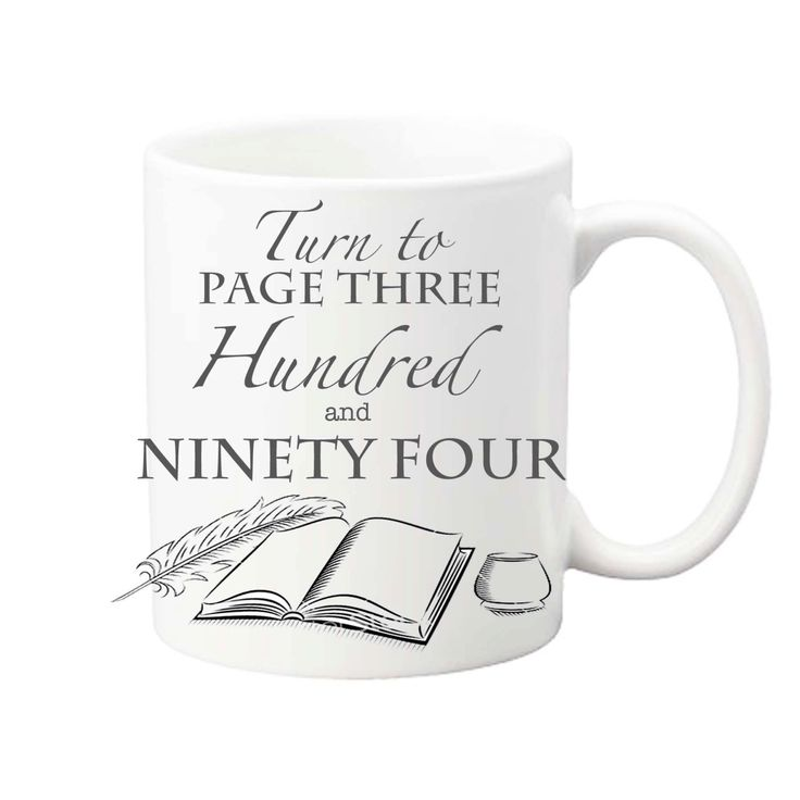Harry Potter Gift Mug 'Turn to page 394' Quill and Ink well by Dreamscapeink on Etsy