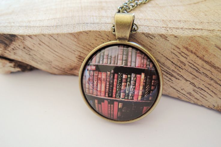 Long Necklaces – Book necklace book pendant brass – a unique product by MadamebutterflyMeagan on DaWanda