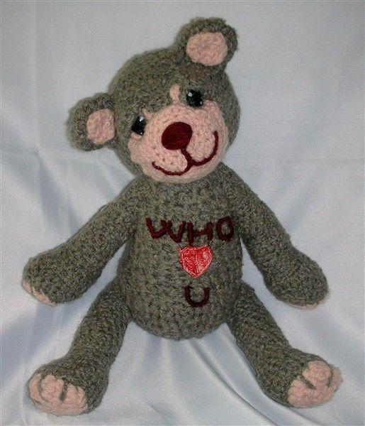 a crocheted bear