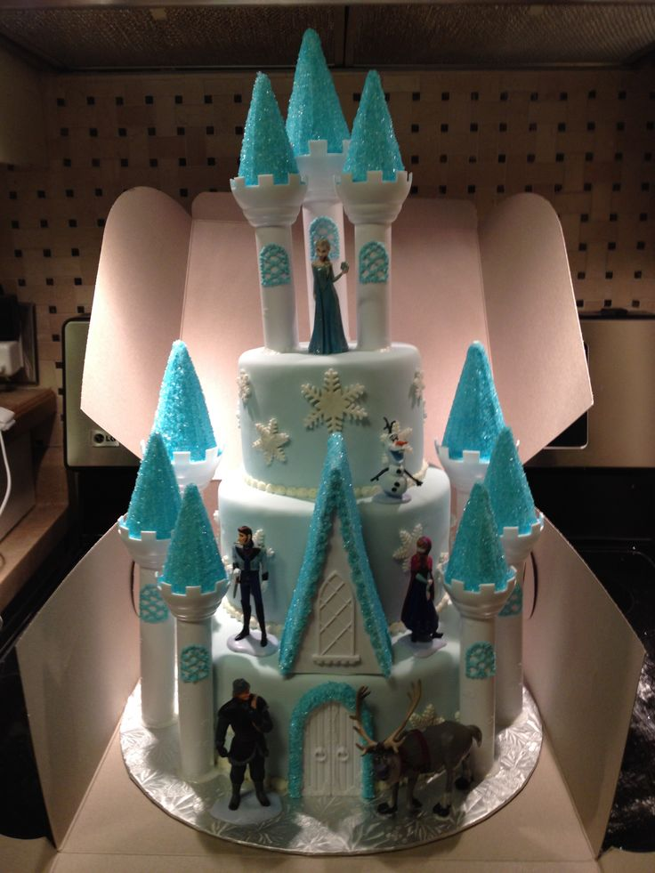 Frozen cake: I have all the plastic castle bits. I just need the Frozen toys...