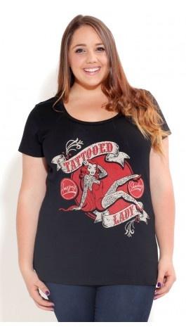 Plus Size Tattoo Lady Graffiti - City Chic $39.00