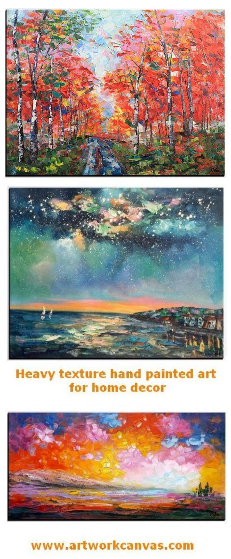 109330be4 Original landscape hand painted art paintings for home decoration. Large  wall art, canvas painting for bedroom, dining room and living room.