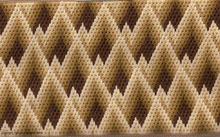 bargello needlepoint patterns | ... and Bargello Needlepoint - Designer Profile - Nuts about Needlepoint