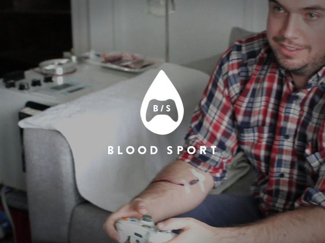 """Blood Sport raises the stakes of gaming, by making it so when you lose blood in the game, you lose it in real life, too.""  Is this crazy, awesome, or both?!"