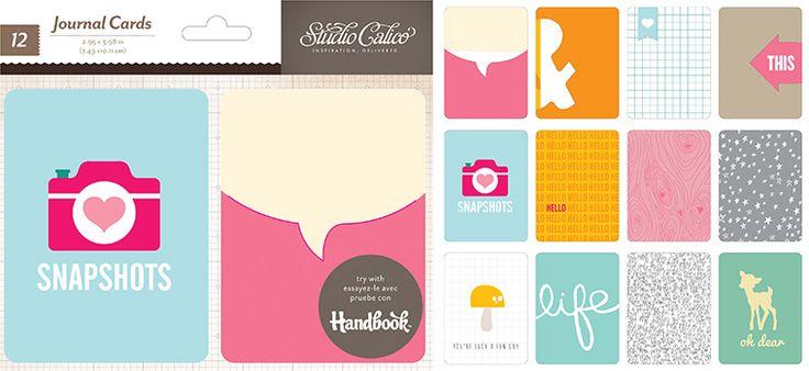 Printshop Journal Cards - Studio Calico #SCprintshop