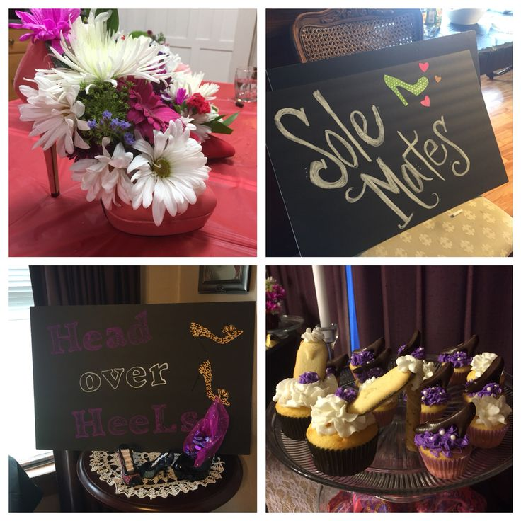 Shoe themed bridal shower! Head over heels in love! Sole Mates and shoe bouquets!