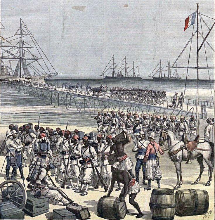 Desembarco en Cotonou de tropas senegalesas. Le Petit Journal, 21may1892 - French colonial empire - Wikipedia, the free encyclopedia