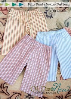 Free Baby Pants Pattern Size 12 - 18 months