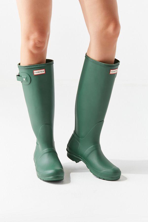 Hunter Original Tall Rain Boot Perfect Fall Style Rain Boots For